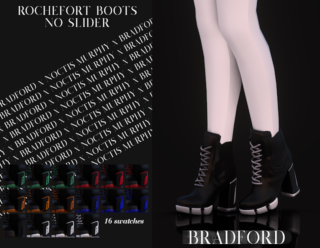 Rochefort Boots No Slider Version Murphy X Bradford X Noctis Sims 4 Clothing Sims 4 Cc Shoes Sims 4