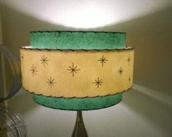 Mid Century Vintage Style 3 Tier Fiberglass Lamp Shade Starburst ...