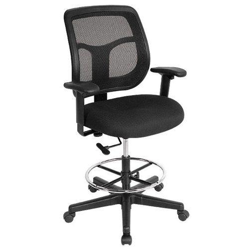 Awesome Apollo Mesh Back Drafting Stool Office Furniture Inzonedesignstudio Interior Chair Design Inzonedesignstudiocom