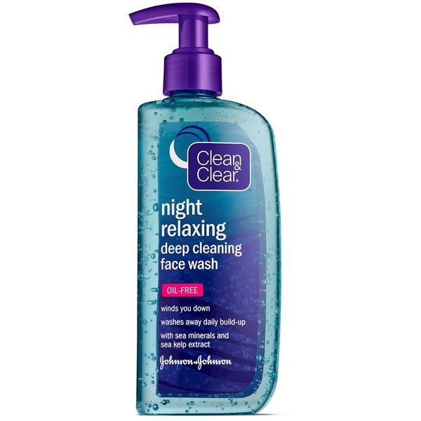 Amazon.com: Clean&Clear Night Relaxing Deep Cleaning Face Wash, 8... ($238) ❤ liked on Polyvore featuring beauty products, skincare, face care and face cleansers