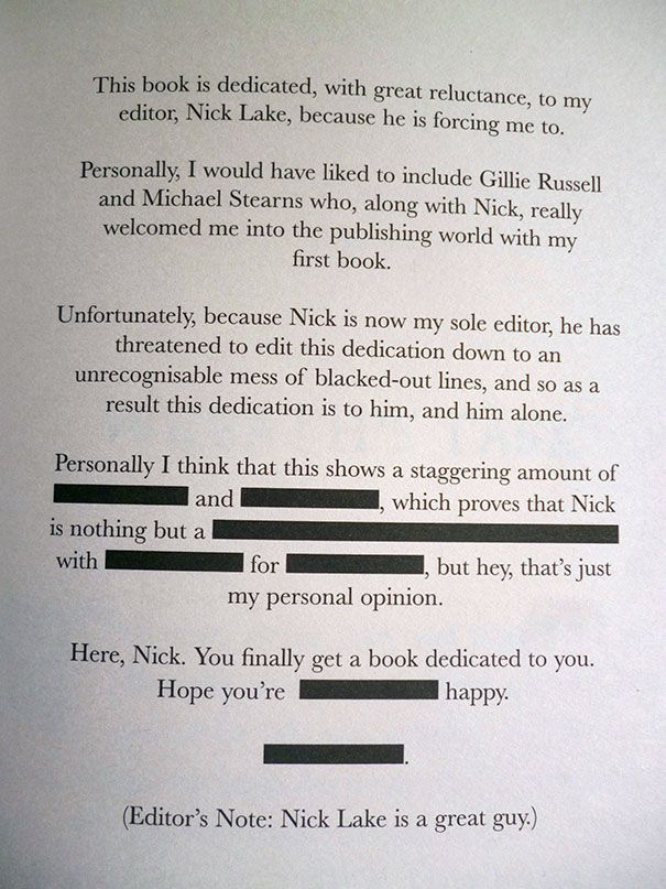 57 Times Writers Took Book Dedications To Another Level Funny