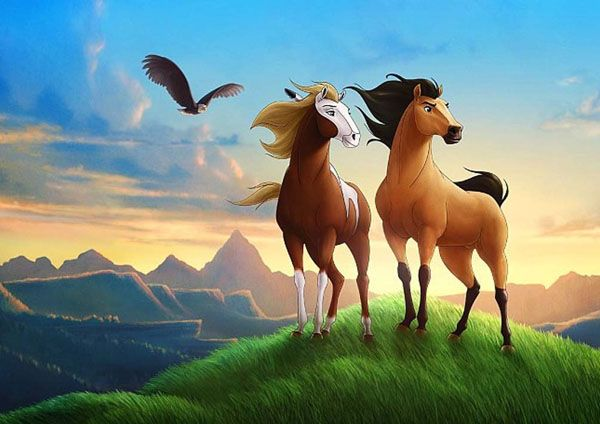 Bichos Desenhos Com Imagens Cavalos Pintados Cavalo Aquarela