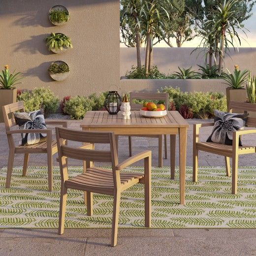 This 40 Inch Square Table From Fsc Indonesian Tropical Hardwood Is A Decorative And Functiona Clearance Patio Furniture Patio Dining Table Wood Patio