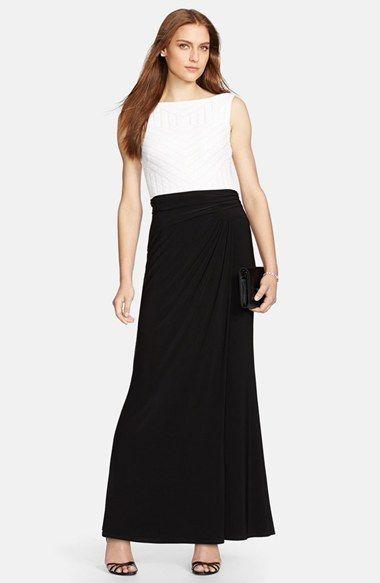 fedb2b4939 Lauren Ralph Lauren Sequin   Jersey Colorblock Gown available at  Nordstrom