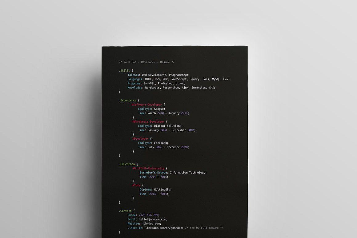 Developers Resume Resumes Developers Resume