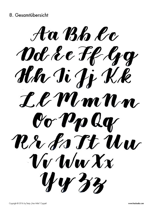 letterattack brush lettering guide lettering and calligraphy rh pinterest com calligraphy alphabet guide pdf calligraphy alphabet guide