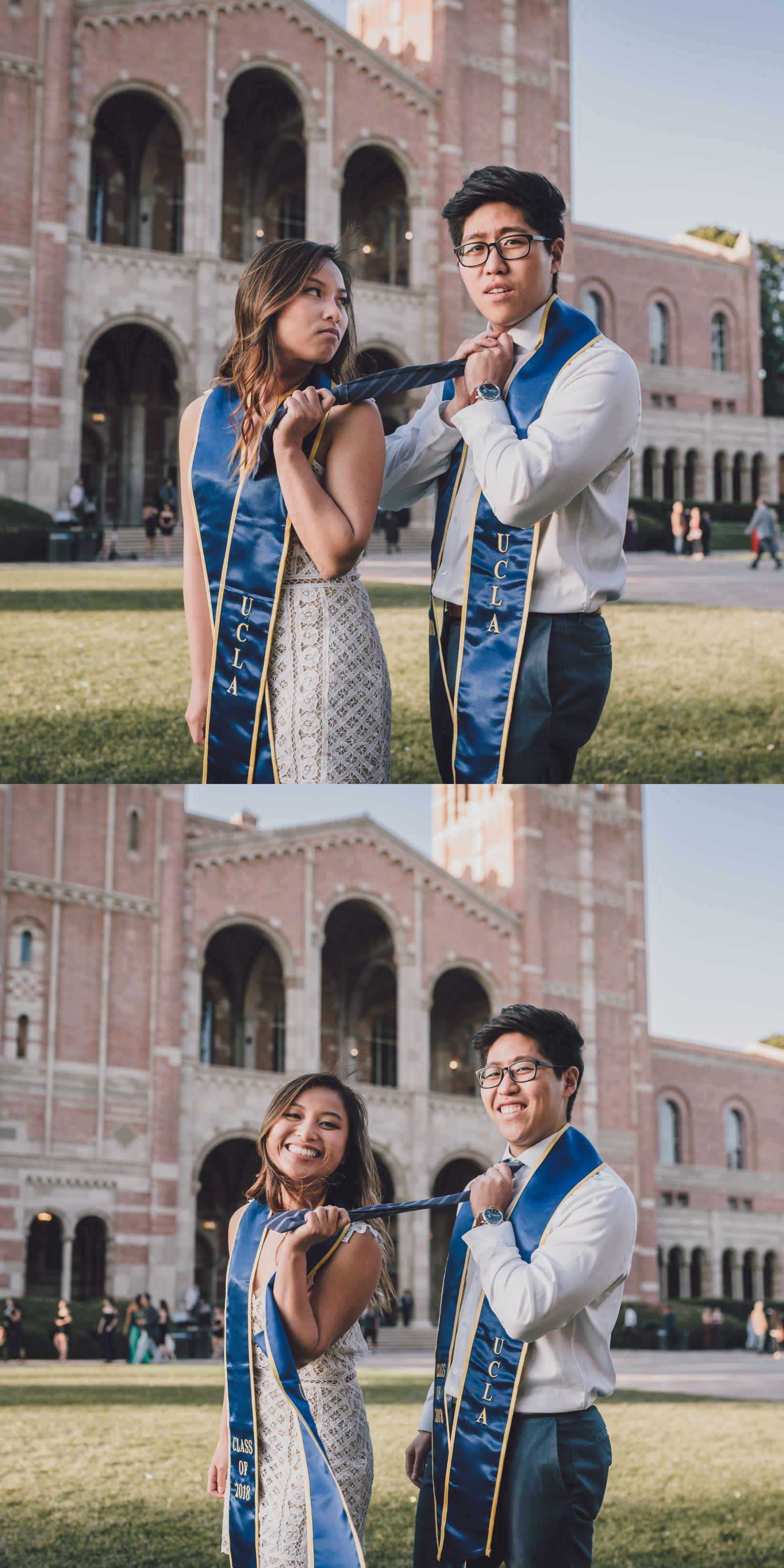 Ucla Couples Graduation Portrait Los Angeles California In 2020 Graduation Portraits Grad Pics Portrait