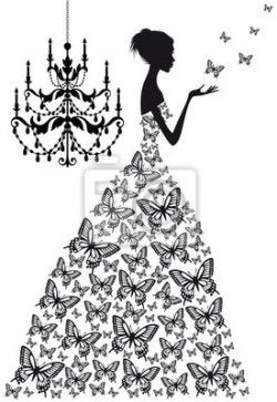 9156586e9 Vinilo Pixerstick Mujer con mariposas