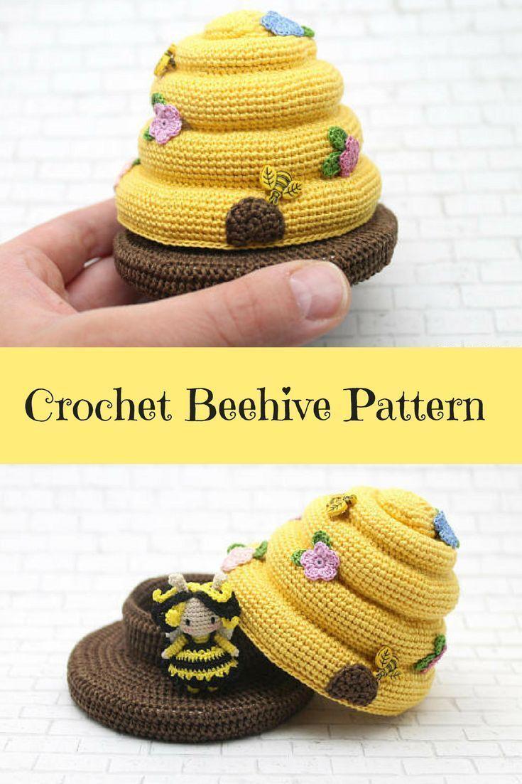 CROCHET PATTERN: Amigurumi Bee Crochet Beehive Amigurumi Doll Kawaii Pattern Amigurumi Pattern (Eng