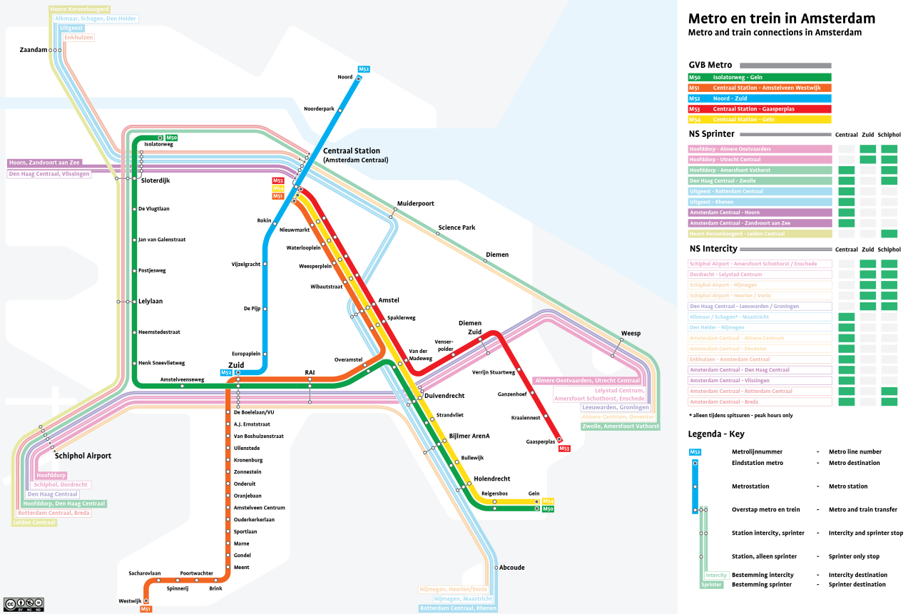 Amsterdam Subway Map.Unofficial Future Map Metro And Train Connections In Amsterdam By