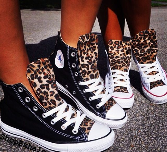 Converse with Leopard Detail. Matching mother 9b8180ffdd