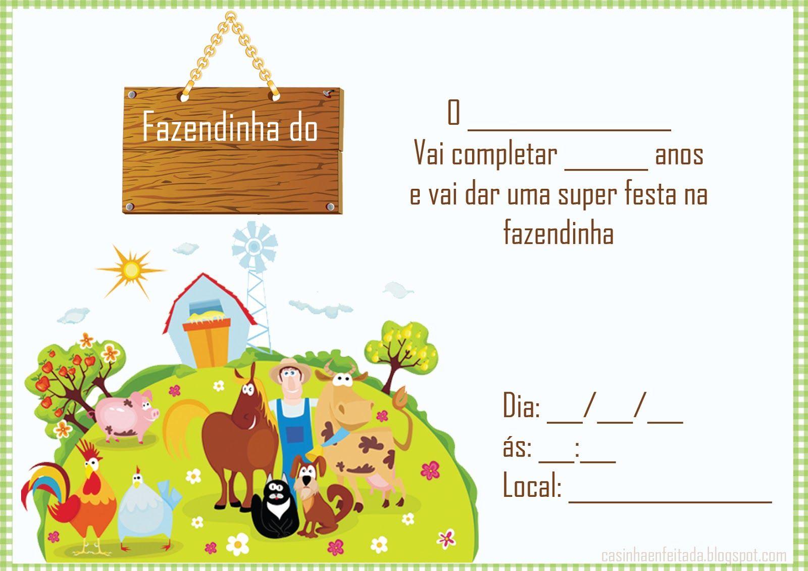 Kit Festa Fazendinha Para Imprimir Gratis Convite Aniversario