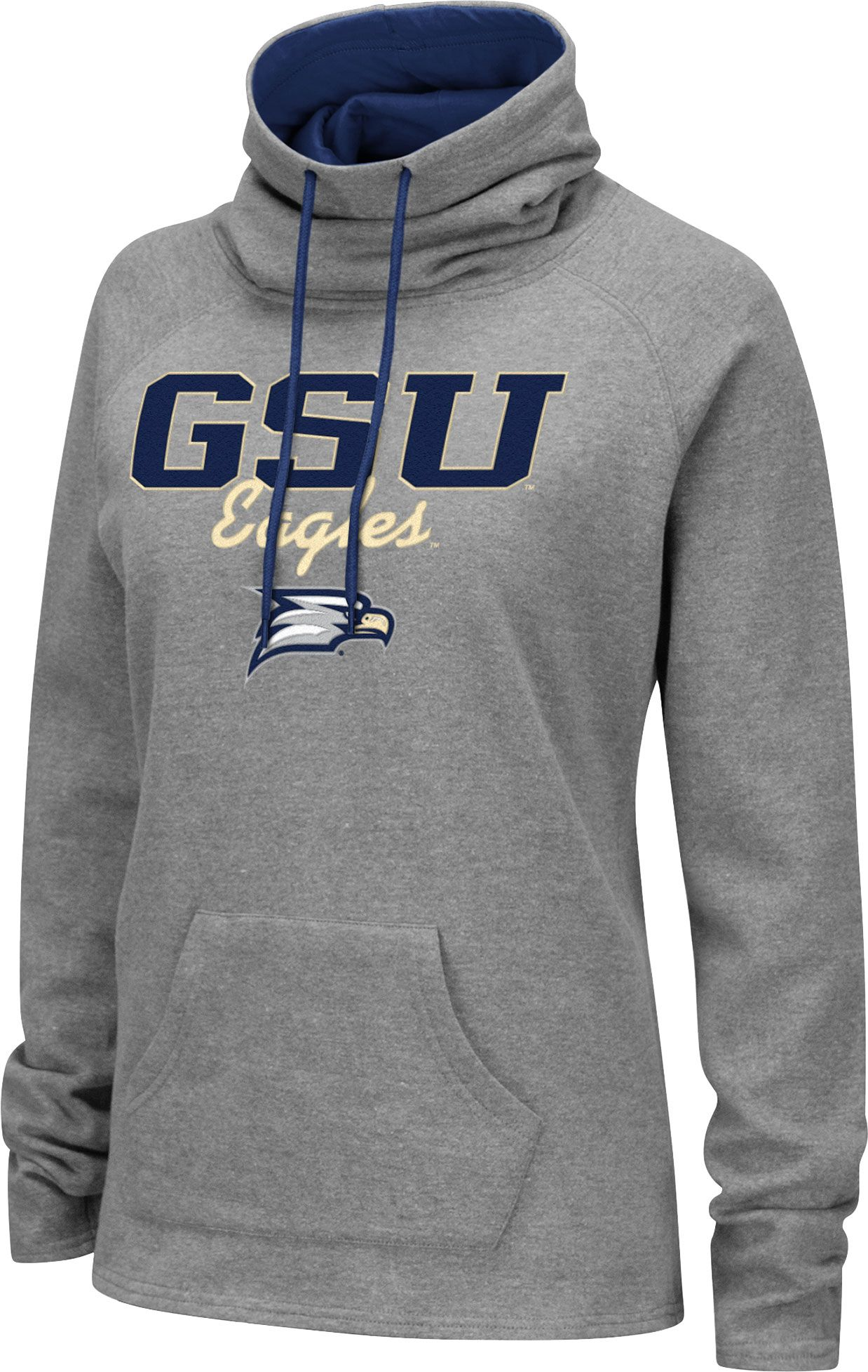 low priced 360bd b8bac Colosseum Women s Georgia Southern Grey Funnel-Neck Pullover Sweatshirt,  Gray