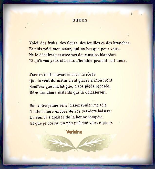 Poème De Paul Verlaine 1844 1896 Poeme Verlaine Poeme