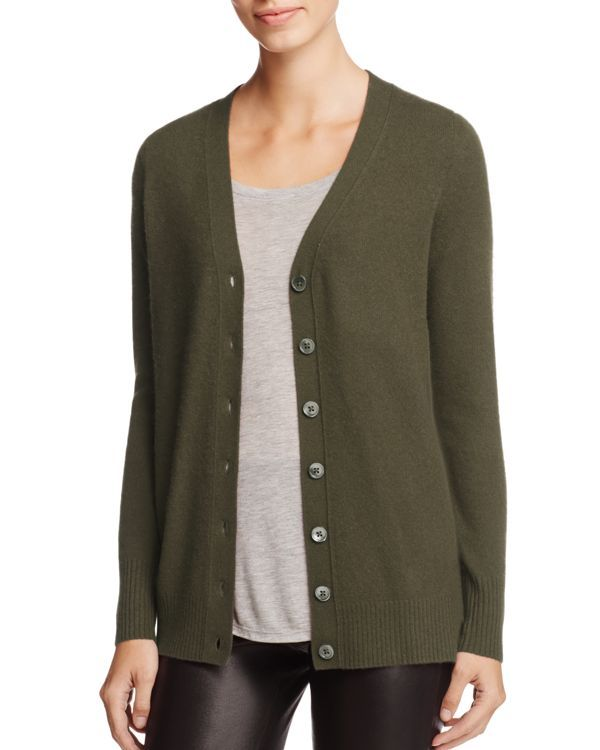 C By Bloomingdale's Cashmere Button-Front Cardigan - 100% Exclusive