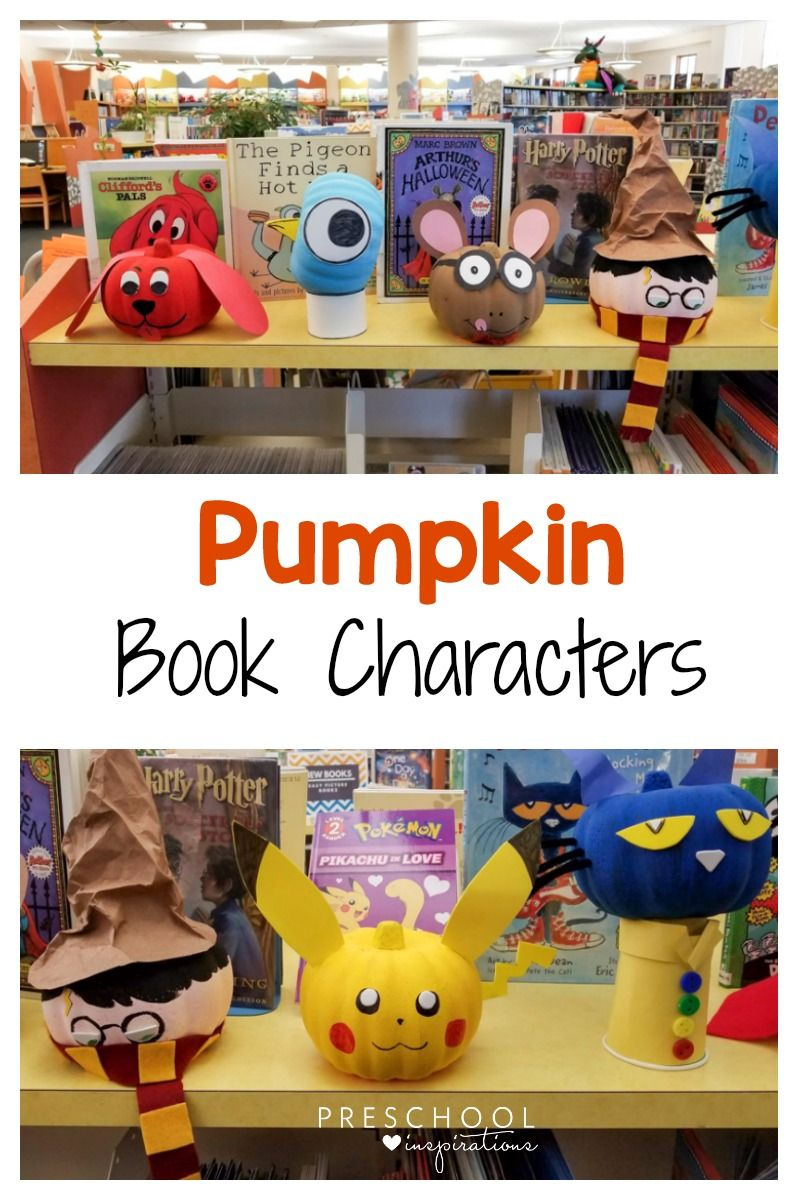 storybook pumpkins with your favorite book characters educational rh pinterest com