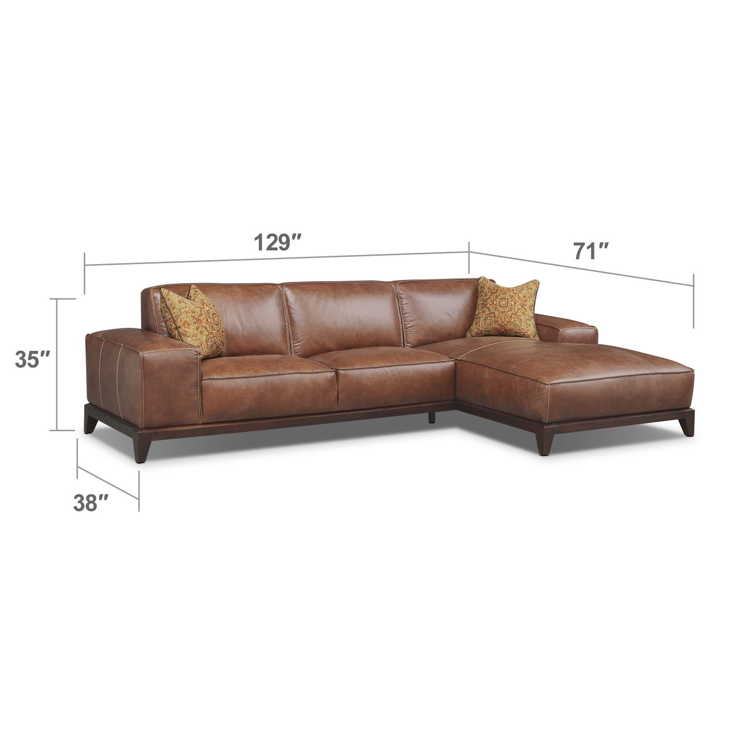 harrison 2 pc sectional american signature furniture rh ar pinterest com