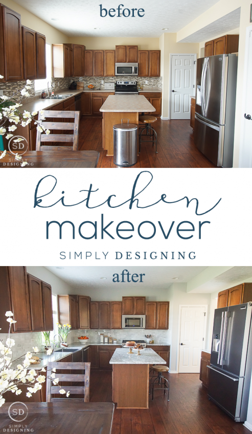 kitchen makeover how to install and backsplash sink and cabinet rh pinterest com how to install a kitchen sink base cabinet