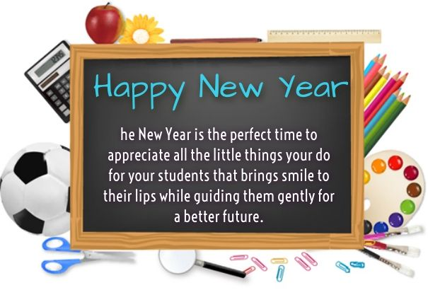 new year messages for teachers