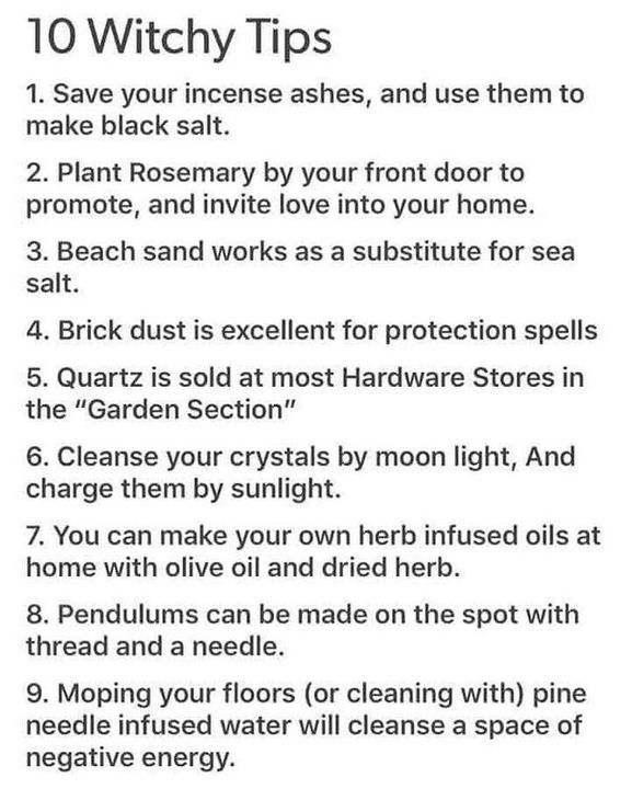 Witchy Tips & More: For Baby Witches & Broom Closet Dwellers - Random Tips & Tricks pt.III