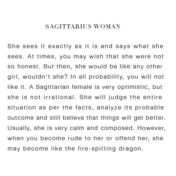 the sagittarius woman horoscope