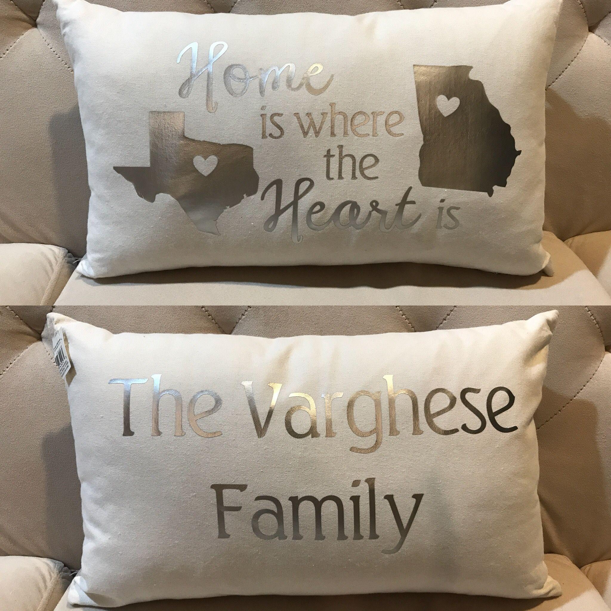 personalized pillow cricut vinyl