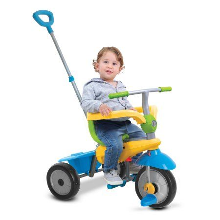 Were young girl rides toy