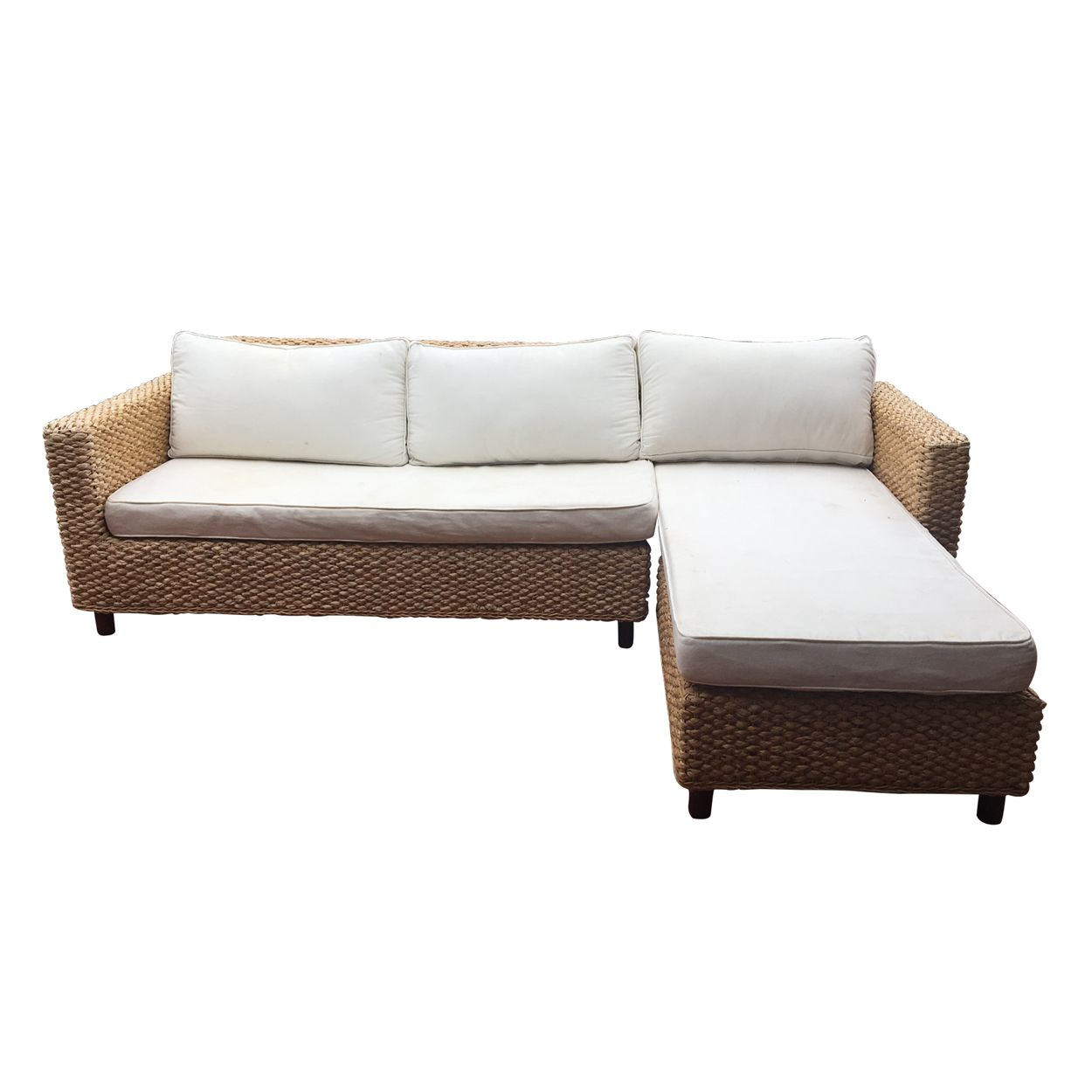 Bring A Touch Of The Hamptons To Your Home With This Stylish Corner Rattan L Shaped Suite L Shaped Sofa L Shaped Couch Sofa