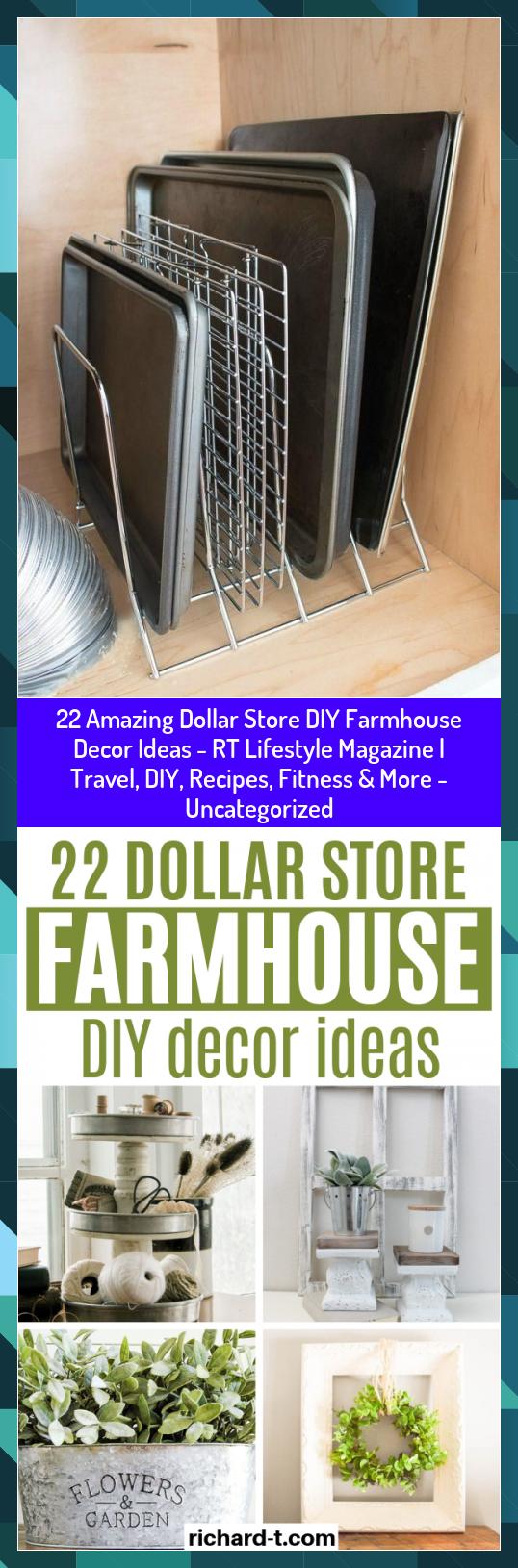 22 Amazing Dollar Store DIY Farmhouse Decor Ideas - RT Lifestyle Magazine | Travel, DIY, Recipes, Fi...