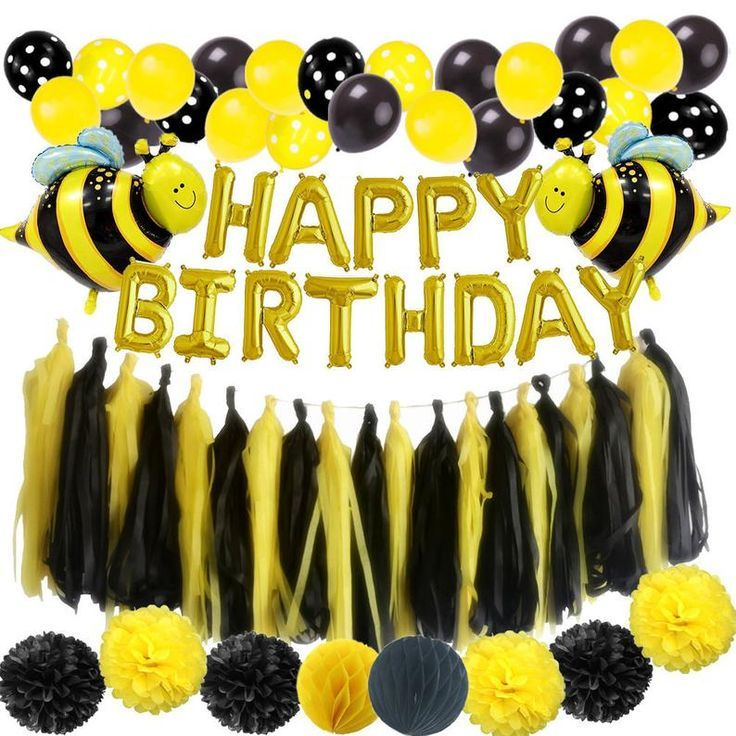 Bee Birthday Party Decorations Princess Party Decoration Kit