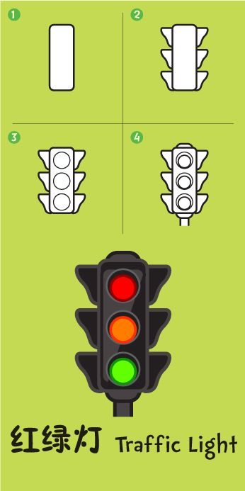 traffic light how to draw drawings art drawing lessons rh pinterest com