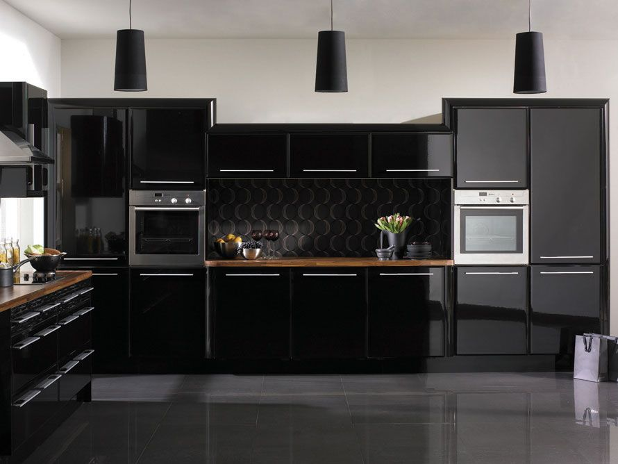 black kitchen cabinet design ideas high gloss cabinets with white wall leading source home news daily updated database pictures r