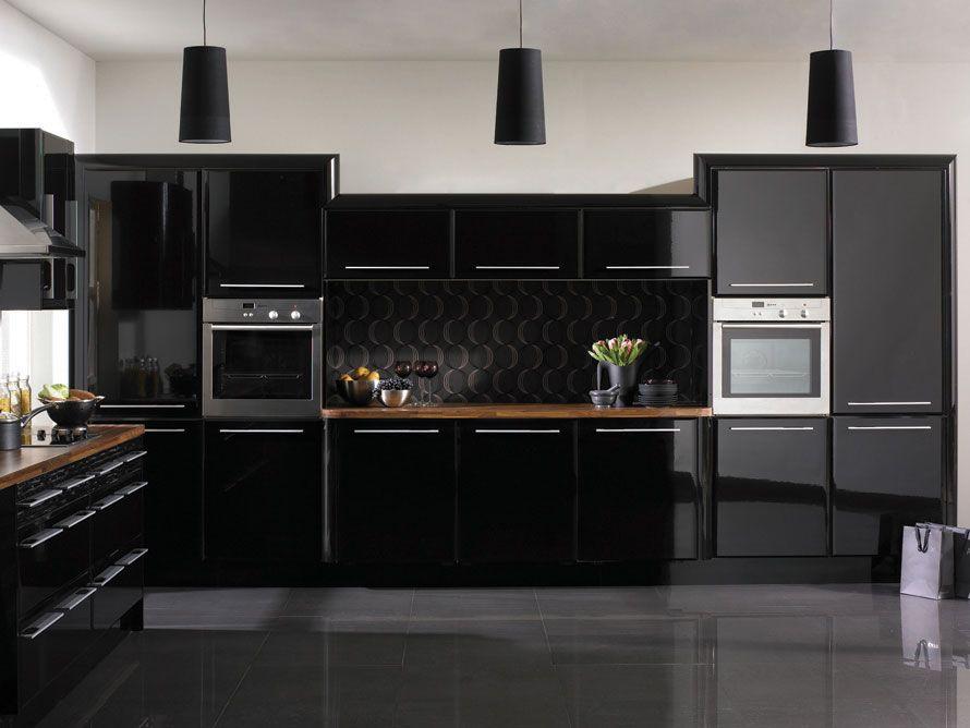 11 Beautiful Black Kitchen Design Gloss Kitchen Cabinets Modern