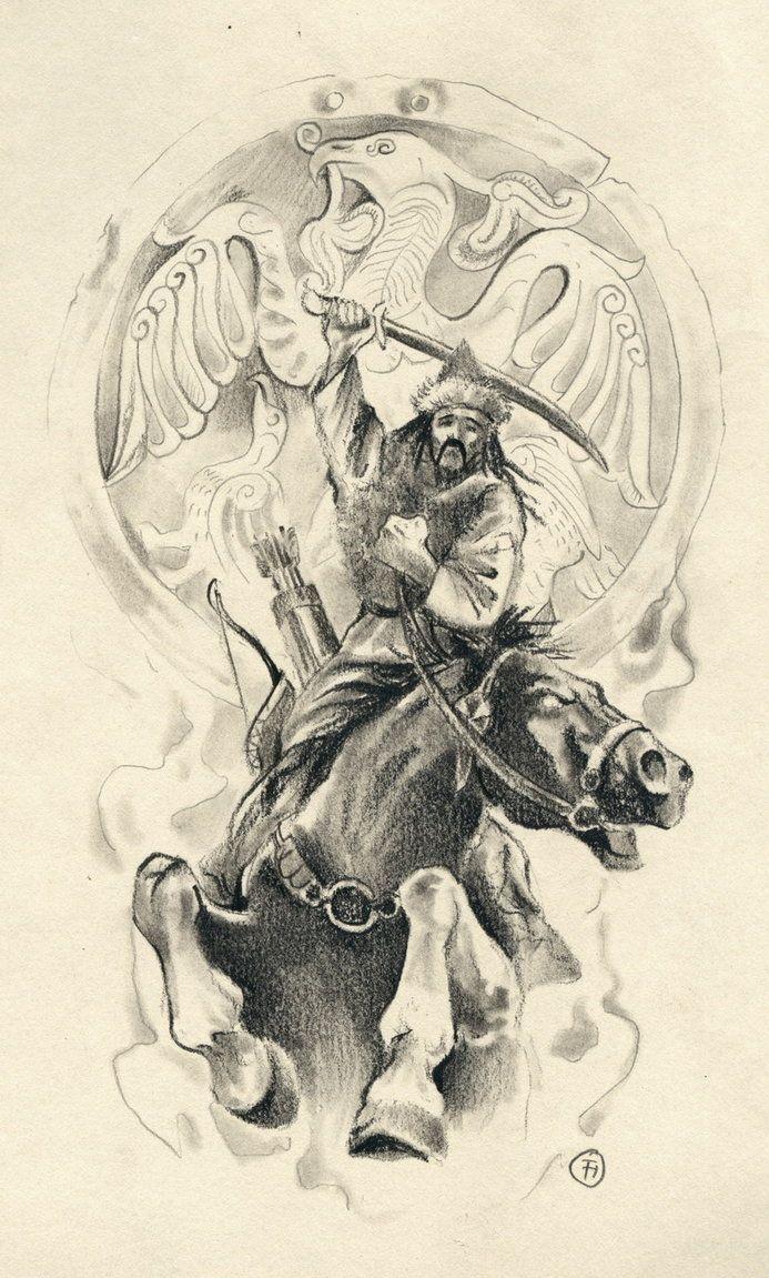 Hun Warrior Warrior Tattoo Warrior Tattoos Horse Tattoo Design