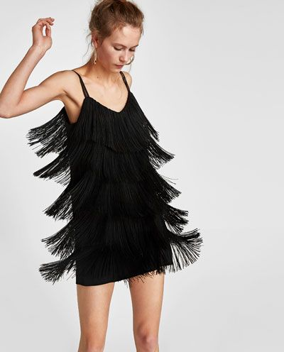 7e831d931c9 FRINGED DRESS-View all-DRESSES-WOMAN