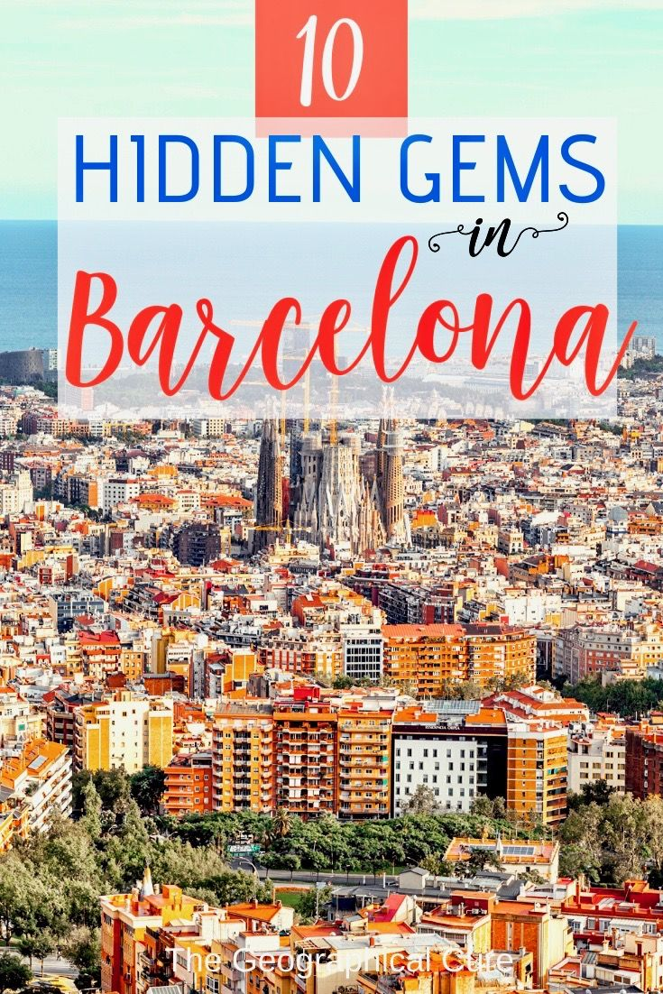 Here's my guide to the underrated hidden gems in Barcelona -- from Modernist buildings to museums to parks. Barcelona is a city with a wealth of art and architecture. It's a distinctive mix of Madrid love of life and Parisian architectural elegance. Spain's second biggest city is a hot tourist destinations these days. But there's more to Barcelona than crowds, Gaudi, and Sagrada Familia. Read on for tips on visiting! #Barcelona #ThingsToDoInBarcelona #HiddenGemsBarcelona #Spain #SpainTravel