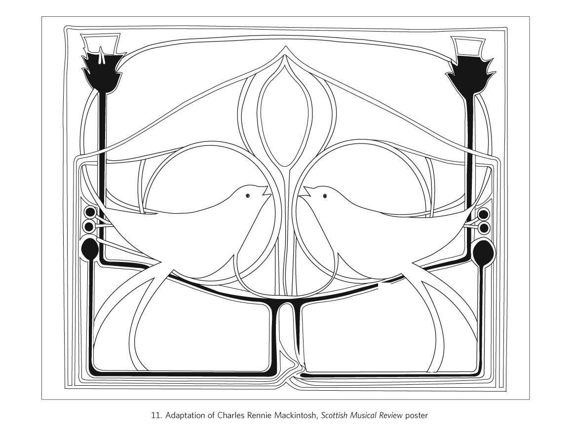 Charles Rennie Mackintosh Designs Coloring Book