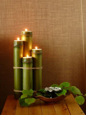 Our First Wedding Anniversary Bamboo Candle Bamboo Diy Bamboo