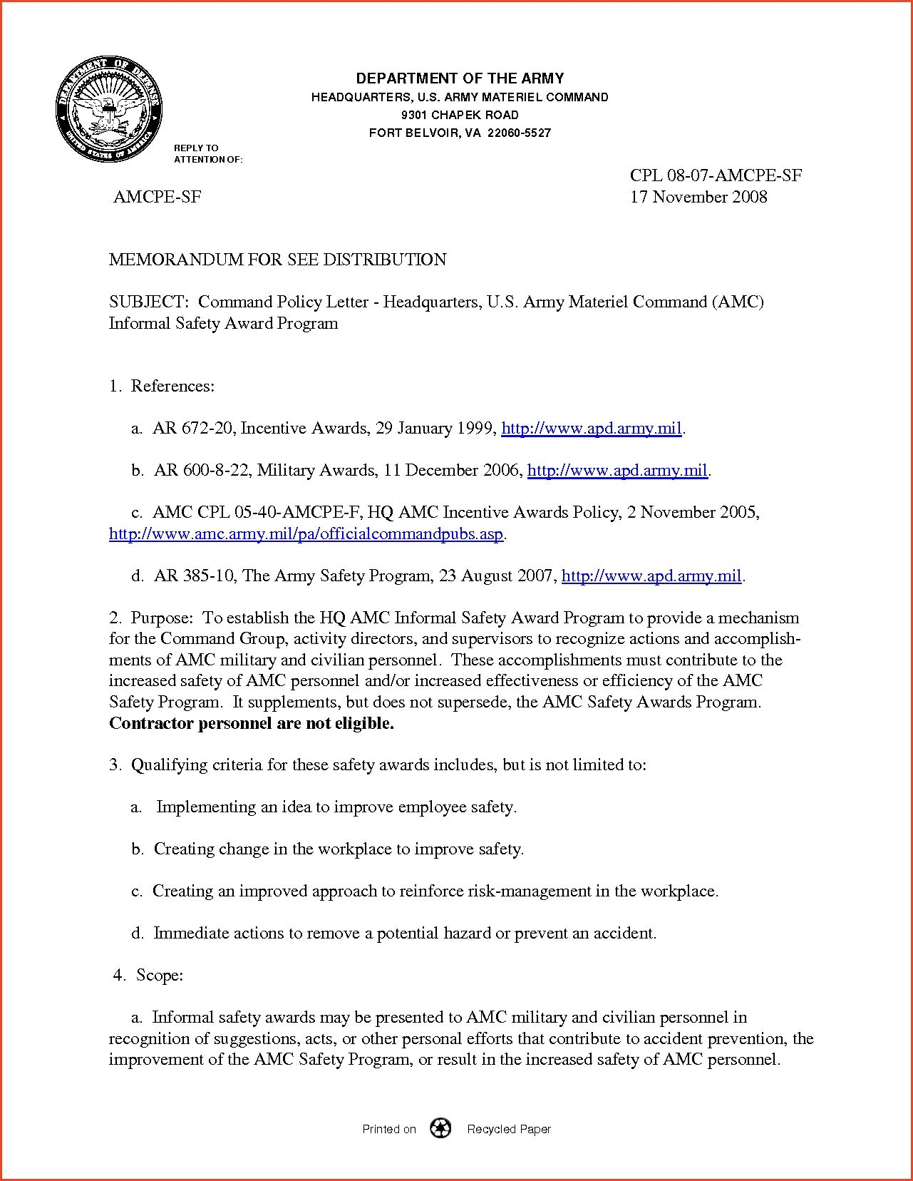 Army Memo Template Proposalsheet Example With Images Memo