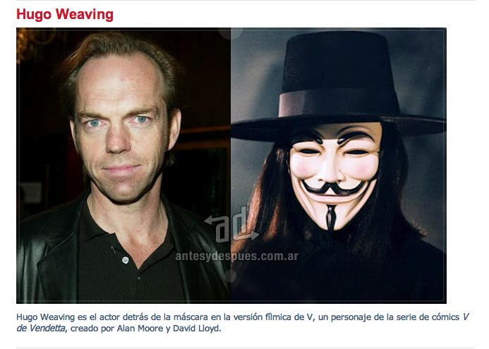 Hugo Weaving V From Vendetta Hugo Weaving V For Vendetta Vendetta
