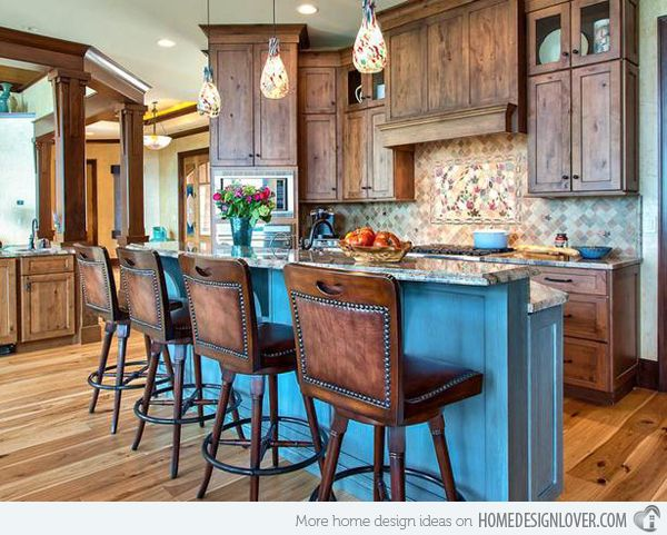 15 interesting rustic kitchen designs my next home pinterest rh pinterest com