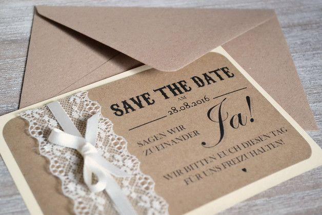save the date karten zur hochzeit vintage creme wedding. Black Bedroom Furniture Sets. Home Design Ideas