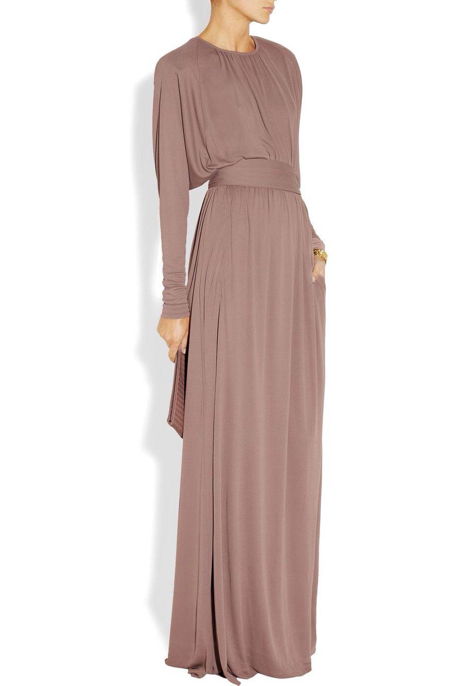 v-neck shirt maxi dress - Pink & Purple Bottega Veneta IXFU3Ih8ug