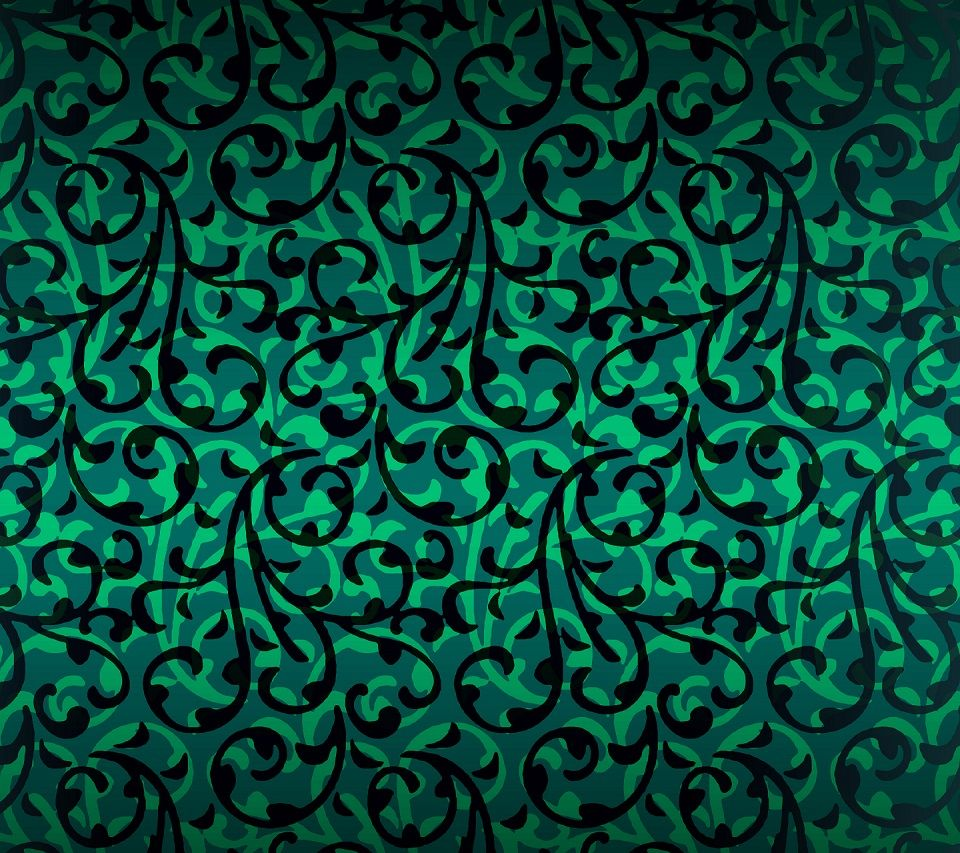 Green Plants Pattern Android wallpaper Android