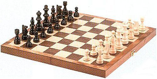 Standard Wooden Chess Set 15 New Board Foldable Portable Wood Travel Gift