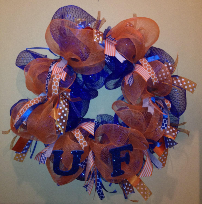 Florida Deco Mesh Wreath by DarlingPeaches on Etsy, $65.00
