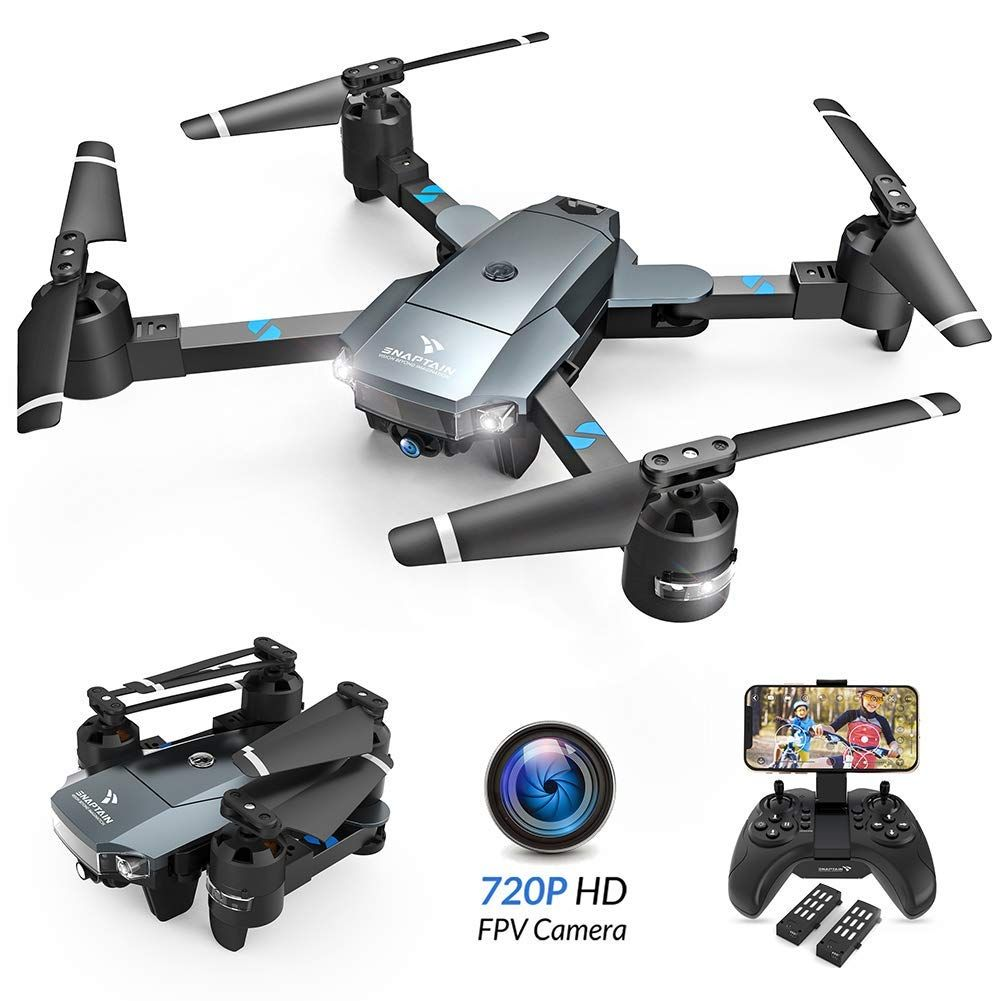 SNAPTAIN A15 Foldable FPV WiFi Drone w/Voice Control/120