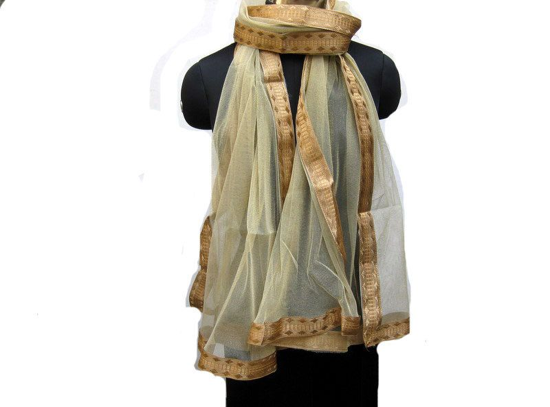 Golden scarf/ net scarf/ trendy scarf/ fashion scarf/ lace scarf/ gift scarf / gift ideas. by vibrantscarves on Etsy