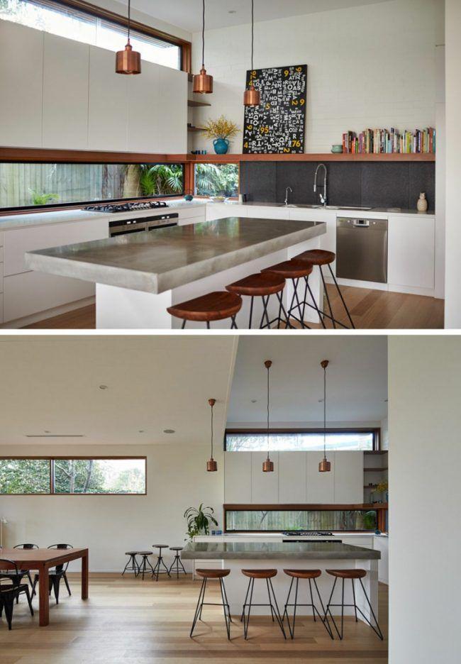 Schmale Fenster für die Küche Viel Licht Duplex whistler