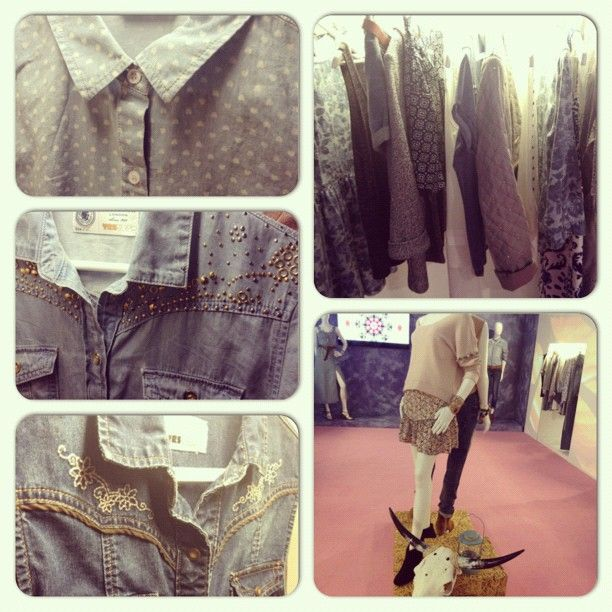 Our 'Pagan Cowgirl' trend at the #newlooksspressday - lots of denim, lightweight fabrics and embellishment! #newlookfashion #ss13